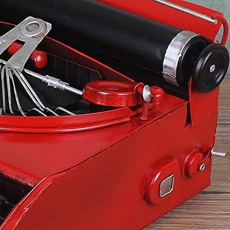 GONGYIPIN Adornos de Lata Vintage Modelo de máquina de Escribir Vintage Rojo máquina de Escribir, Accesorios de fotografía Cine y televisión Ornamentos ...