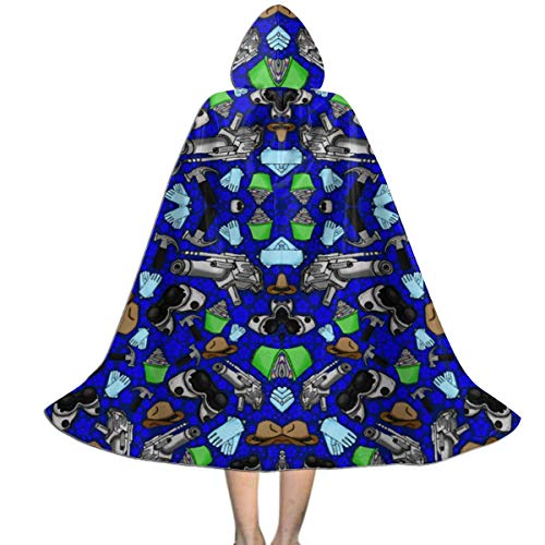Dr Horrible Halloween Costumes (Doctor Horrible's Sing Along Fabric (5053) Kids Hooded Cloak Cape for Christmas Halloween Cosplay)