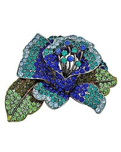 Something Blue Large Statement Brooch Pin Fashion Jewelry Boxed (#70) by Shoppe23 (Image #2)
