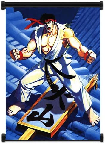 Amazon Com Street Fighter Anime Game Ryu Wall Scroll Poster 16