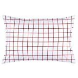 Carousel Designs Red Windowpane Pillow Case - Organic 100% Cotton Pillow Case - Made in the USA