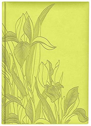 Iris Collection Large Hardcover Notebook with Padded Embossed Cover, Chartreuse (7706330) Photo #1