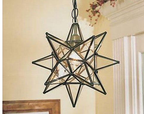 15 Inch Clear Glass Star Pendant Light Amazoncom