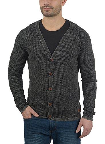 Grosse Black Gilet En Pour Maille Homme100 Tebi Coton Cardigan solid Veste X6vwqRWxZZ