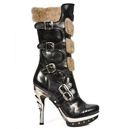 New Rock Handmade M PUNK017 C11 Schwarz Damen Stiefel