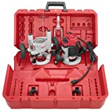 Milwaukee 5616-24 2-1/4 Max-Horsepower EVS Multi-Base Router Kit Includes Plunge Base...