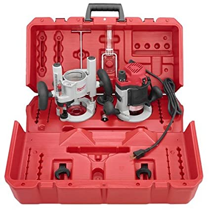 Milwaukee 5615-24 1 75-Horsepower Multi-Base Router Kit Includes Plunge  Base and BodyGrip Fixed Base