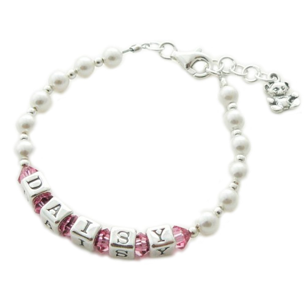 Sterling Silver Name Bracelet - Personalised Christening Gift Occasions Emporium