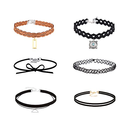 MINKANAK Velvet Necklaces Elastic Pendant
