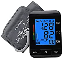 Arm Blood Pressure Monitor, YKS Portable Automatic Accurate Health Abnormal and Irregular Heartbeat Detector with Wide-Range Cuff for Home Use (U80)