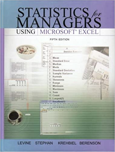 Amazon statistics for managers using microsoft excel and amazon statistics for managers using microsoft excel and student cd package 5th edition 9780136149903 david m levine david f stephan fandeluxe Choice Image