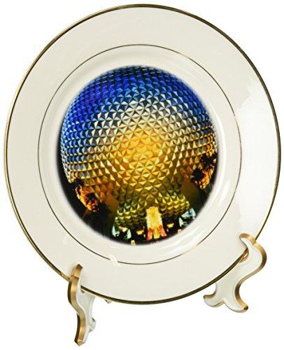 3dRose cp_89024_1 Florida, Orlando. Epcot Center at Walt Disney World - US10 BBA0072 - Bill Bachmann - Porcelain Plate, 8-Inch