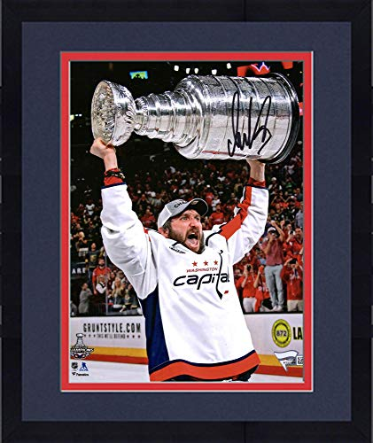 (Framed Alex Ovechkin Washington Capitals 2018 Stanley Cup Champions Autographed 8