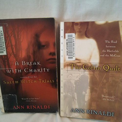 Lot of 2 Ann Rinaldi Paperbacks ~ A Break with Charity, The Coffin Quilt