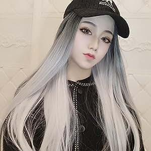 gradient silver wig