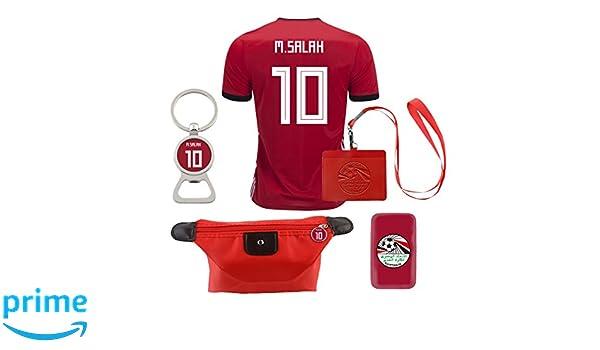 eef23295379 Amazon.com  EE bestort Egypt  10 Salah 2018 Home Mens Soccer Jersey Color  Red (Small)  Home   Kitchen