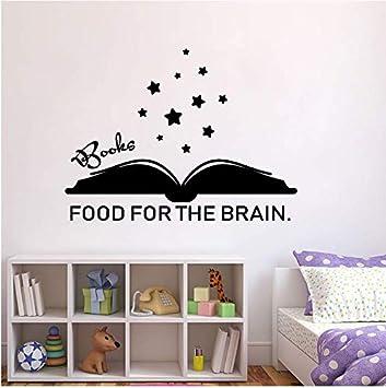 Libros Comida para el cerebro Tatuajes de pared Cita Palabras ...