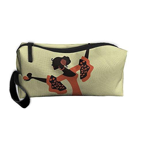 (Bing4Bing Samba Dancers Printing Portable Receive Bag Sewing Kit Cartridge Bag Cosmetic Bag Oxford Fabric)