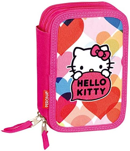 Hello Kitty 52130 - Plumier triple: Amazon.es: Oficina y papelería