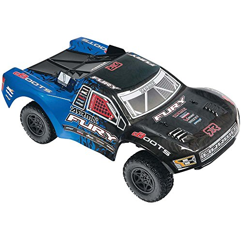 ARRMA 1:10 Scale RTR Remote Radio Control Car: FURY MEGA 2WD Electric RC Short Course Truck with 2.4GHz Radio, Servo, ESC, Brushed Motor, 7.2V 2000mAh NiMH Battery, and Charger
