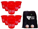 yard of beer - Yard Pong - Giant Beer Pong Game Set - Made For Outdoor Events Such As Tailgating, Beach, Camping, Pool, Lawn, and BBQ Events