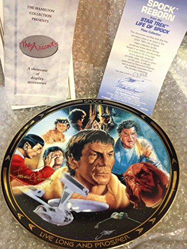 Star Trek Movies Hamilton Collector Plate Spock Reborn Plate No. #0339b