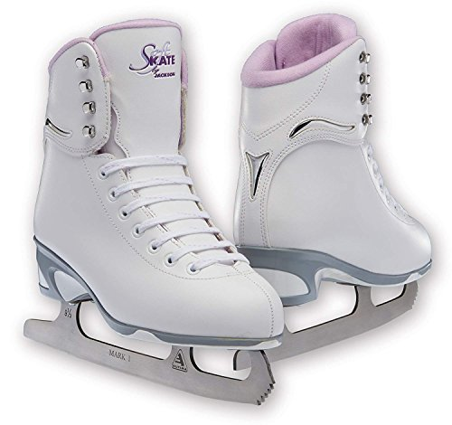 Jackson JS 181 SoftSkate Girls Figure Ice Skates (Purple, 2) (Best Ice Skates For Kids)