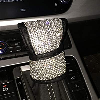 eing Crystal Shift Gear Cover with Bling Bling Diamonds Auto Knob Gear Stick Protector Car Decor Accessories: Automotive