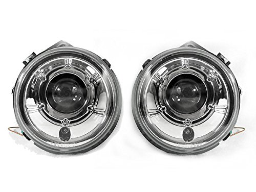 Mercedes Headlights Projector (DEPO Chrome Projector Headlights Lamp Fit 02-06 Mercedes Benz W463 G-Class G500)