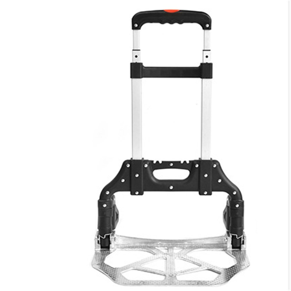Multifunctional All-Terrain Stair Climbing Folding Hand Truck, Push Cart Collapsible Trolley Luggage Aluminum Alloy, Lightweight Portable Trolley Dolly For Indoor Outdoor Travel Shopping Office