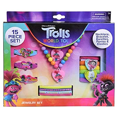 Trolls 2 15 Piece Accessory Box Set with Jewelry: Toys & Games