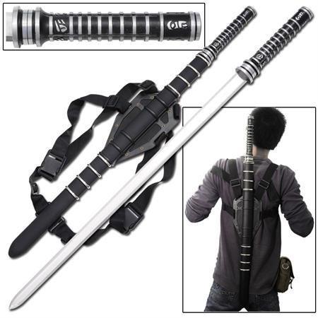 Handle 27' Stainless Steel Blade (Fantasy Blood Warrior Sword Day Walker Blade withHard Scabbard.)