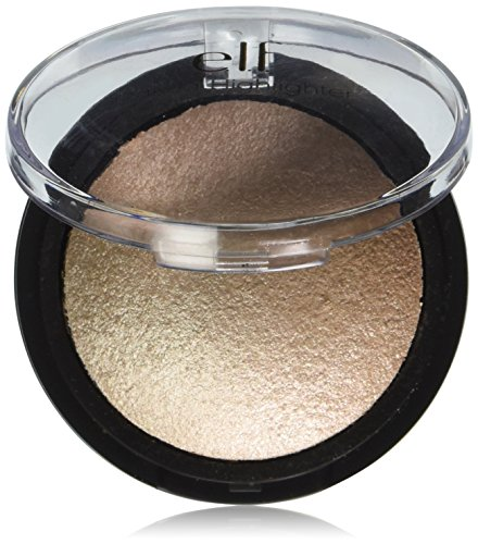 e.l.f. Baked Highlighter, Moonlight Pearl, 0.17 Ounce (L Cosmetic Bag)