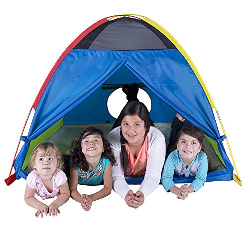 Pacific Play Tents Super Duper 4 Kid Dome Tent for Indoor / Outdoor Fun – 58″ x 58″ x 46″
