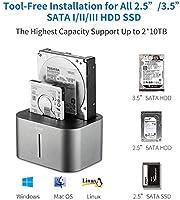 SSK estación de acoplamiento de disco duro externo de aluminio USB ...