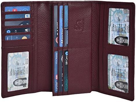 Leather Checkbook Wallets Credit Estalon