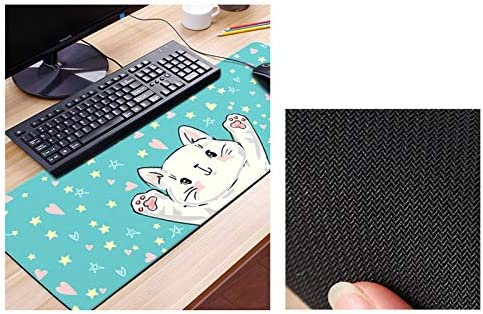 Color : D, Size : 4mm HMMSP Cartoon Desktop Extended Mouse Keyboard Pad Large Thickened Gaming Mouse Pad Locking Edge is Not Easy to Crack Wear Resistant 30/×80cm