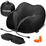 HOMIEE Memory Foam Travel Pillow The Best Neck Pillow with 360 Head
