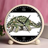 Alarm Clock, Bedroom Tabletop Retro Portable Clocks with Nightlight Custom designs Dinosaurs 10_Gastonia burgei dinosaur