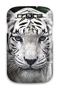 Galaxy S3 Female While Tiger Print High Quality Tpu Gel Frame Case Cover