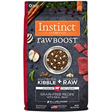Nature's Variety Instinct Raw Boost Grain Free Recipe with Real Beef Natural Dry Dog Food by, 20 lb. Bag