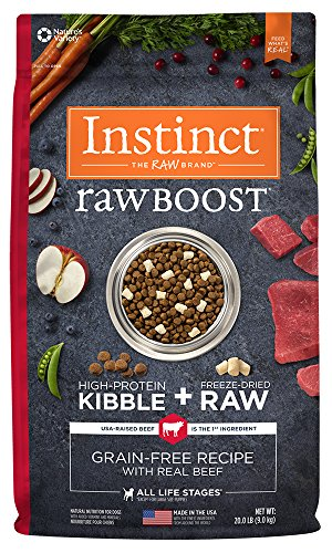 Instinct Raw Boost Grain Free Recipe with Real Beef Natural Dry Dog Food by Nature's Variety, 20 lb. (Dry Beef)