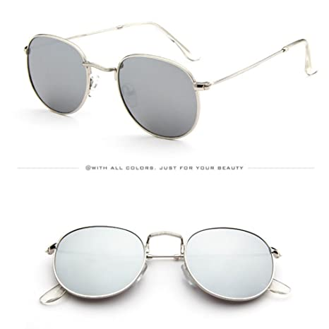 Gaddrt donne moda retrò moda Shades occhiali da sole integrato UV occhiali, F