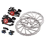 OLSUS Mechanical Mountain Bike Bicycle Disc Brakes and Rotors Kit for Mountain Bicycle