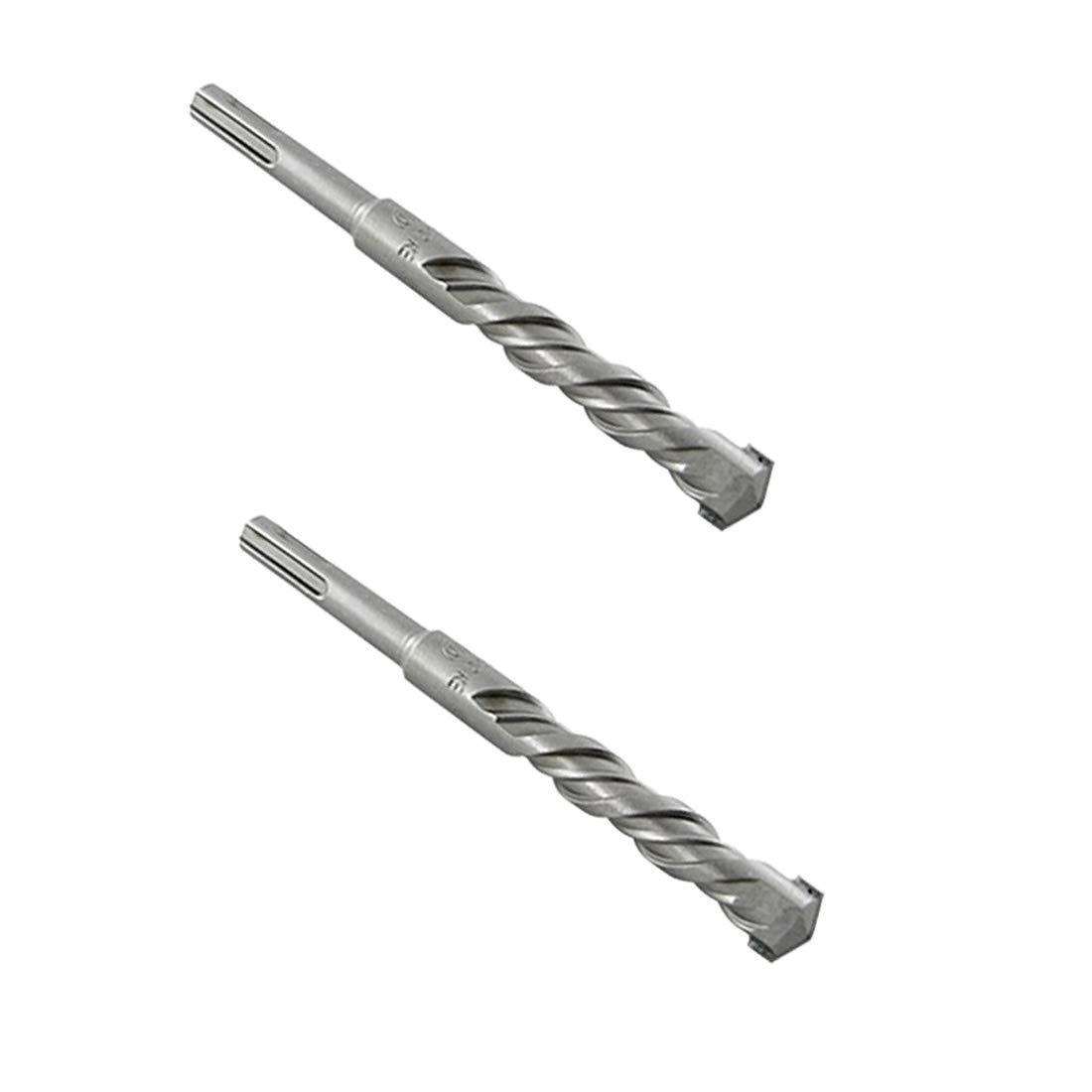 XMHF 16mm Diameter Tip SDS Plus Shank Masonry Hammer Drill Bit 2Pcs