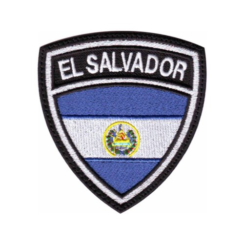 El Salvador Crest Flag Embroidered Sew On Patch