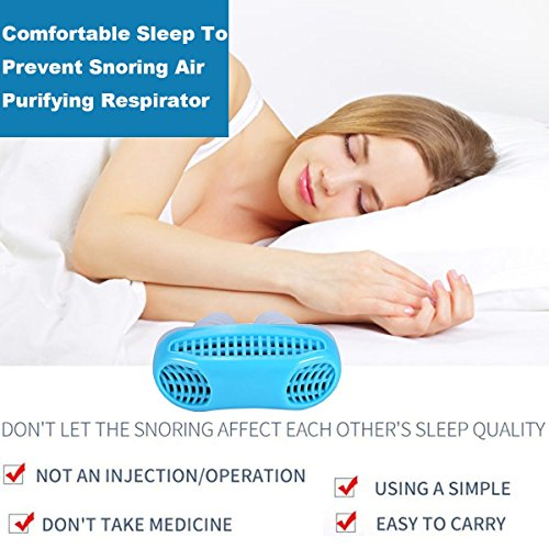 Snoring Solution, Anti Snoring Devices Snore Stopper, Stop Snoring, Best Airing Air Purifier Nose Vents Nasal Dilator, to Give You a Good Night's Sleep (blue) by SIYU (Image #5)