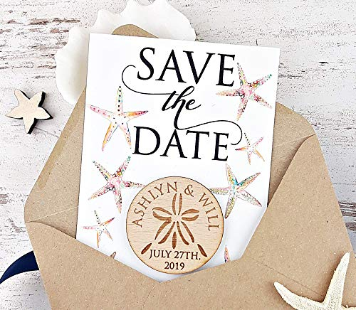 Sand Dollar Save The Date Magnet, Wedding Save The Date Set of 20