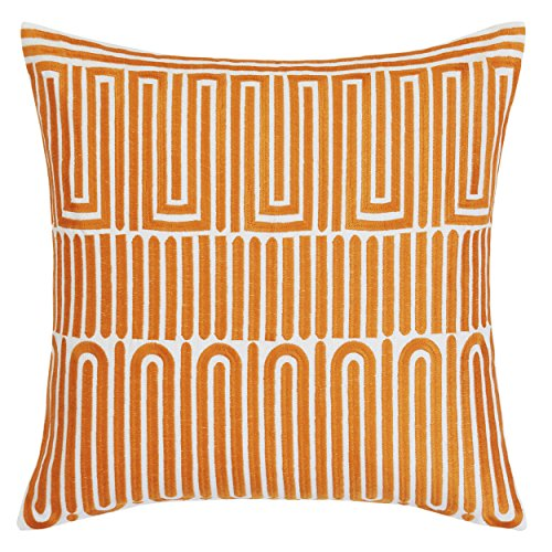 Trina Turk USHSA71050483 Racket Club Geo Throw Pillow, Medium Orange