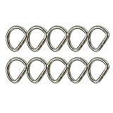 "Fusion Climb Mini 1"" Spotting D-Ring Ultra Light Carbon Steel Silver 10-Pack"